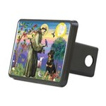 St Francis / Rottweiler Rectangular Hitch Cover