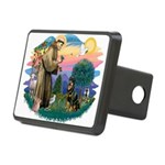 St.Francis #2/ Rottweiler Rectangular Hitch Cover