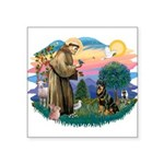 """St.Francis #2/ Rottweiler Square Sticker 3"""" x"""