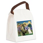 St Francis & Samoyed Canvas Lunch Bag