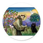 St Francis / Schipperke Round Car Magnet