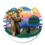 St.Francis #2/ Schippereke #4 Round Car Magnet