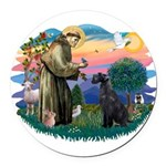 St.Francis #2/ Giant Schnauze Round Car Magnet