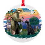 St.Francis #2/ Giant Schnauze Round Ornament