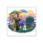 "St.Francis #2/ Schnauzer #2 Square Sticker 3"""