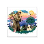 "St.Francis #2/ Scottys (2) Square Sticker 3"""