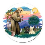 St.Francis #2/ Scottys (2) Round Car Magnet