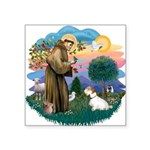 St Francis #2/ Sealyham T Square Sticker 3