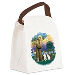 St.Francis (w) / 2 Shelties Canvas Lunch Bag
