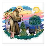 St.Francis #2 / Shetland Shee Square Car Magnet 3&
