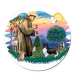 St.Francis #2 / Shetland Shee Round Car Magnet