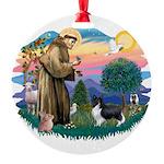 St.Francis #2 / Shetland Shee Round Ornament