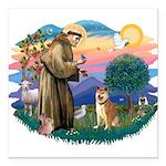 St Francis #2/ Shiba Inu Square Car Magnet 3