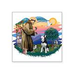 St.Francis #2/ Siberian H #1 Square Sticker 3&quot
