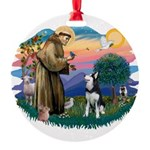 St.Francis #2/ Siberian H #1 Round Ornament