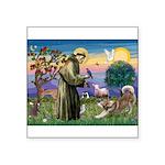 St Francis #2 / Red Husky Square Sticker 3