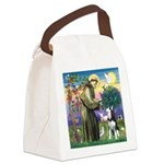St Francis & Husky Canvas Lunch Bag