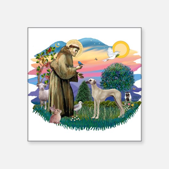"""St Francis #2/ Sloughi Square Sticker 3"""" x 3"""""""