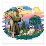 St.Francis #2/ Tibetan Span Square Car Magnet 3&qu