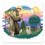 St.Francis #2/ Tibetan Spani Square Car Magnet 3&q