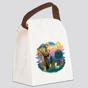 St.Francis #2/ Toy Fox Ter. Canvas Lunch Bag