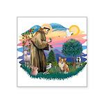 St.Francis #2 / Welsh Corgi ( Square Sticker 3&quo