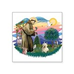 St Francis #2/ Westie #1 Square Sticker 3