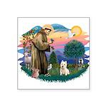 St Francis #2/ Westie Square Sticker 3