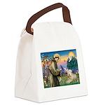 St. Fran #2 / Wheaten Terrier Canvas Lunch Bag
