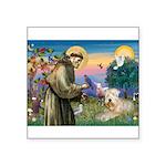 St. Fran #2 / Wheaten Terrier Square Sticker 3&quo