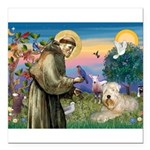 St. Fran #2 / Wheaten Terrier Square Car Magnet 3&