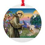 St. Fran #2 / Wheaten Terrier Round Ornament