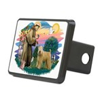 St Francis #2/ Wheaten Rectangular Hitch Cover