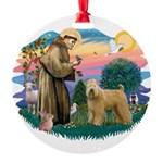 St Francis #2/ Wheaten Round Ornament