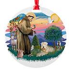 St Francis #2 / Wheaten Round Ornament
