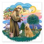 St Francis #2/ Wheaten #2 Square Car Magnet 3