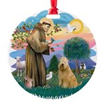 St Francis #2/ Wheaten #2 Round Ornament