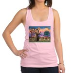 St Francis / Whippet Racerback Tank Top