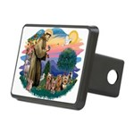 St.Francis #2/ Yorkies (4) Rectangular Hitch Cover