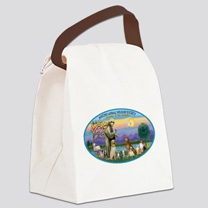 St Francis / dogs-cats Canvas Lunch Bag