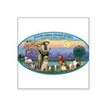 St Francis / dogs-cats Square Sticker 3