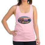 St Francis / dogs-cats Racerback Tank Top