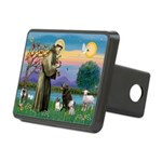 St Francis/3 dogs Rectangular Hitch Cover