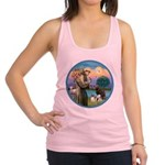 St Francis/3 dogs Racerback Tank Top