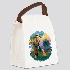 StFran(f)-Abyssin. (rd) Canvas Lunch Bag