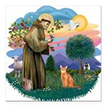 StFran(f)-Abyssin. (rd) Square Car Magnet 3