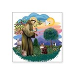 St. Fran (ff) - Maine Coon (# Square Sticker 3&quo