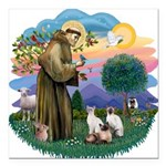St. Fran (ff) - 3 Siamese Square Car Magnet 3&quot