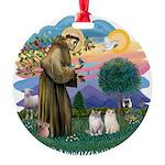 St Fran(f) - 2 Ragdolls Round Ornament