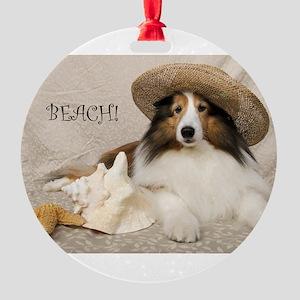 Beach! Round Ornament